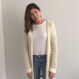 Anthropologie Long Knitted Cardigan Sweater
